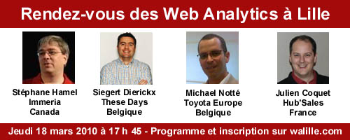 Great presenters will be at the Le Rendez Vous des Web Analytics in Lille, March 18th